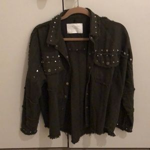 Zara army studded jacket